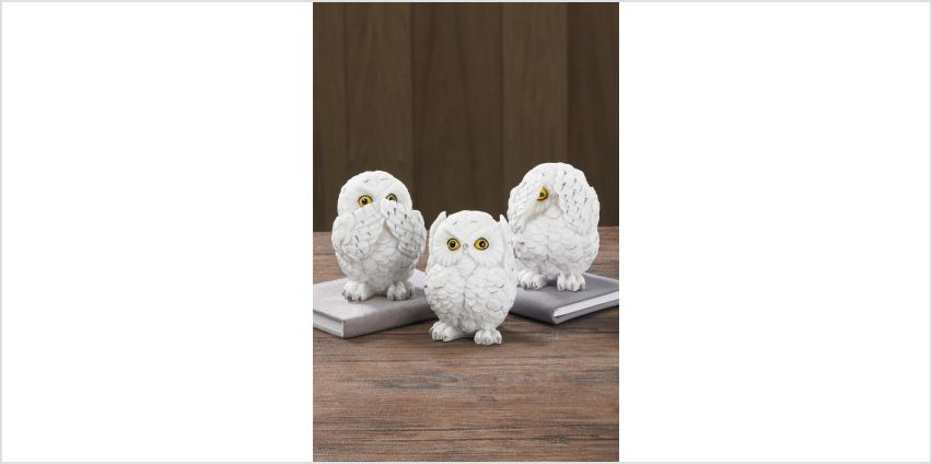 Three Wise Owls Ornaments from Studio