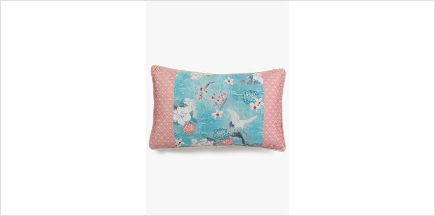 Eastern Blossom Filled Boudoir Cushion from Studio