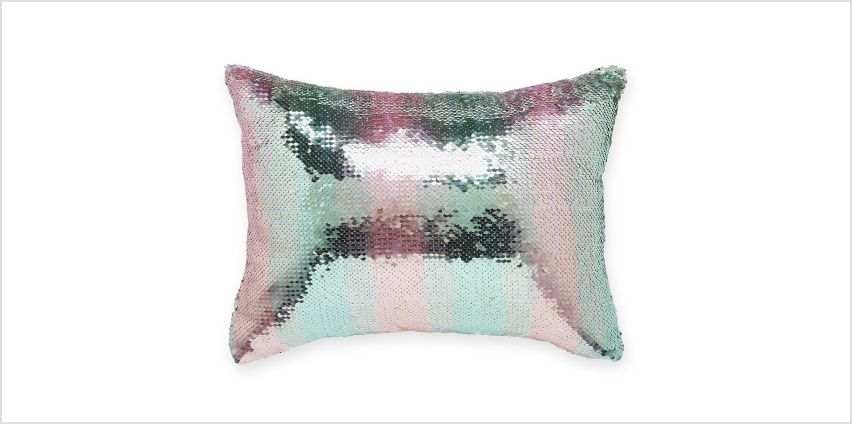 Rainbow Sequin Filled Cushion from Studio