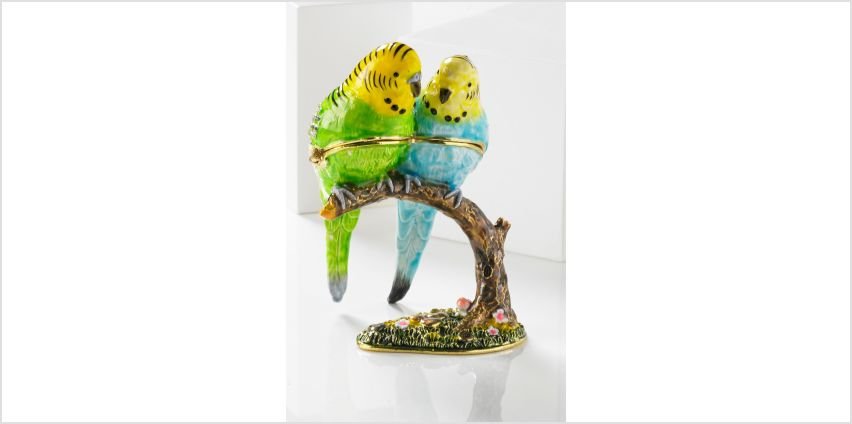 Treasured Trinkets - Budgies On A Branch from Studio