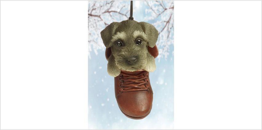Schnauzer Pet Pal Hanging Boot Ornament from Studio