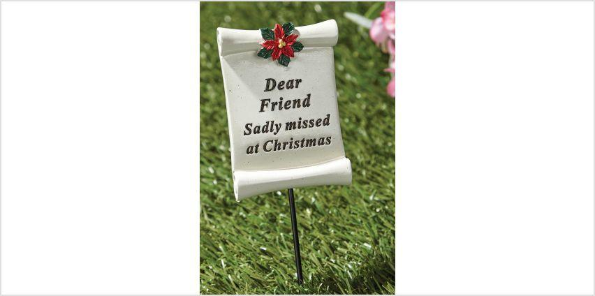 Poinsettia Memorial Stick Friend from Studio