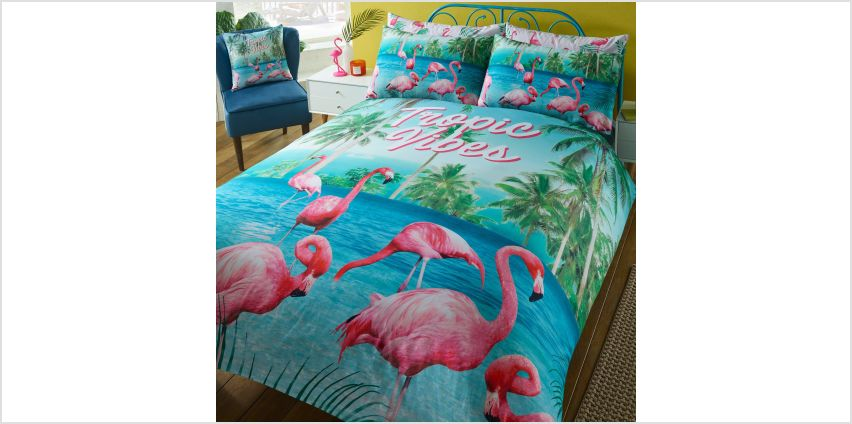 Flamingo Tropical Vibes Duvet Set from Studio