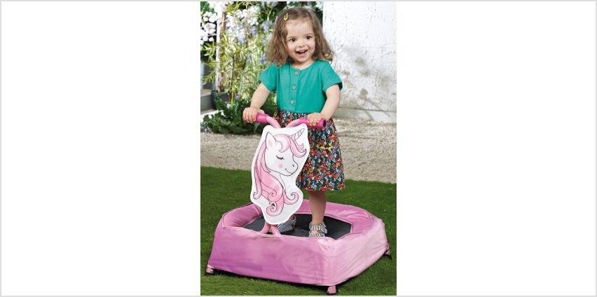 Toddler Unicorn Trampoline from Studio