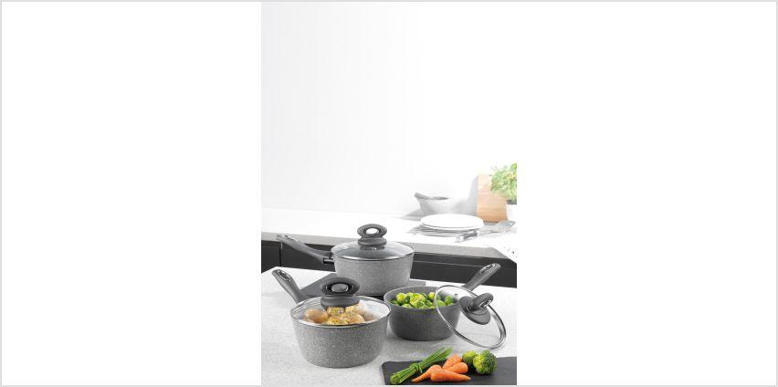 3-Piece Salter Grey Marble Pan Set from Studio