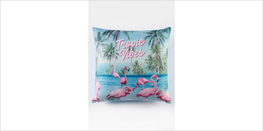 Flamingo Tropical Vibes Cushion Cover from Studio