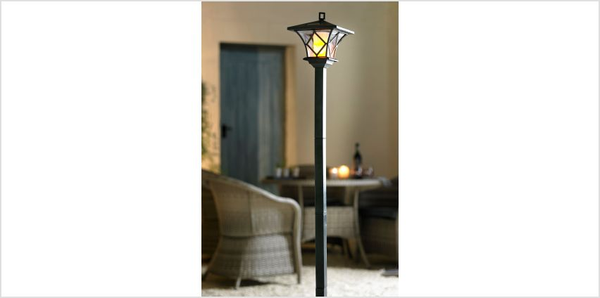 Solar Flame Effect Lamp Post from Studio