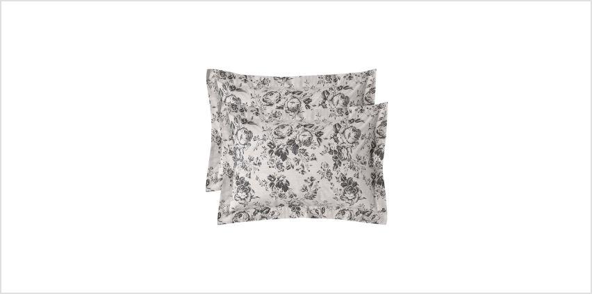 Paris Rose Pair of Oxford Pillowcases from Studio