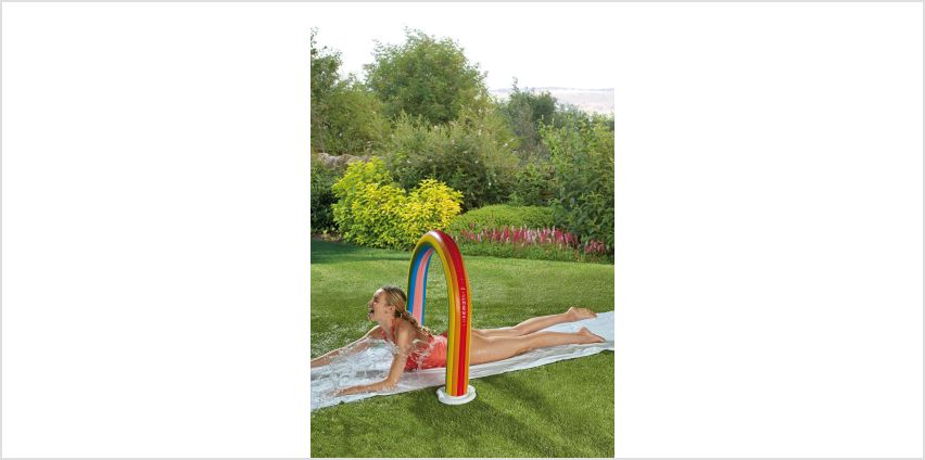 Inflatable Rainbow Water Slide from Studio