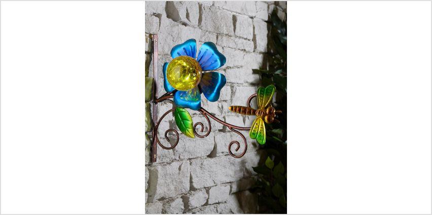 Dragonfly Solar Crackle Wall Bracket from Studio