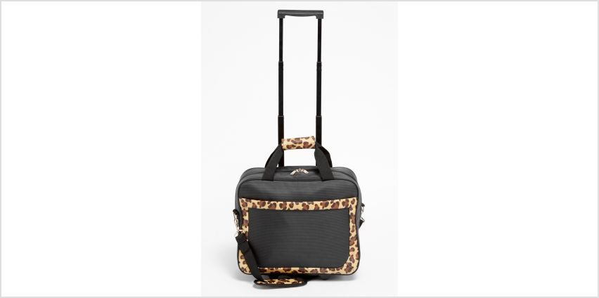 Leopard Travel Trolley Suitcase from Studio
