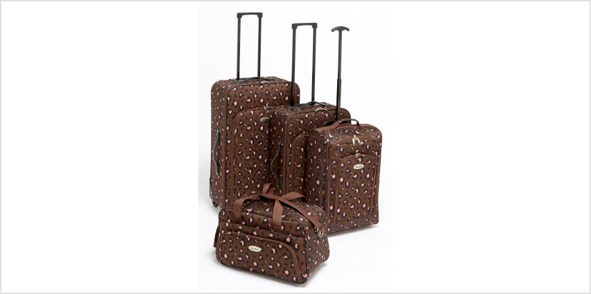 4-Piece Leopard Luggage Set from Studio