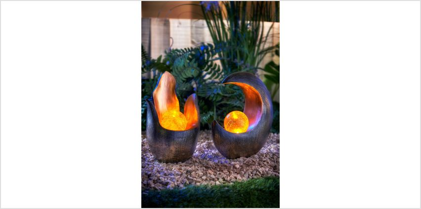 Set of 2 Solar Ball Ornaments from Studio