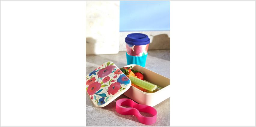 Cambridge Bamboo Posy Lunchbox and Cup Set from Studio