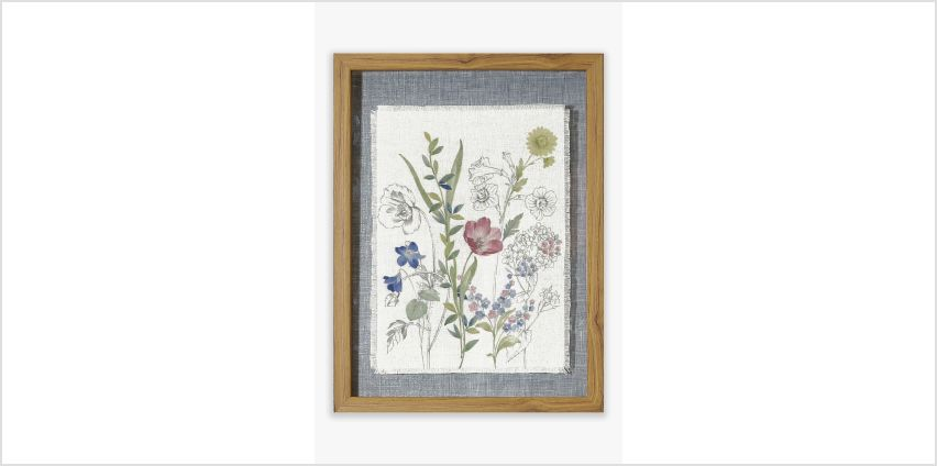 Floral Linen Glass Frame from Studio