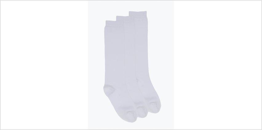 Girls Pack of 3 Knee High Socks from Studio