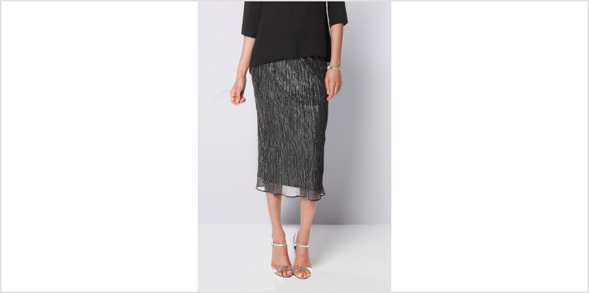Metallic Midi Skirt from Studio