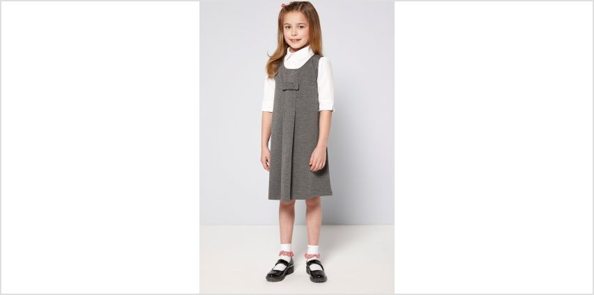 Girls Ponte Pinafore with Bow from Studio