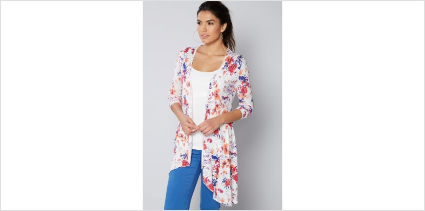 Floral Print Waterfall Cardigan from Studio