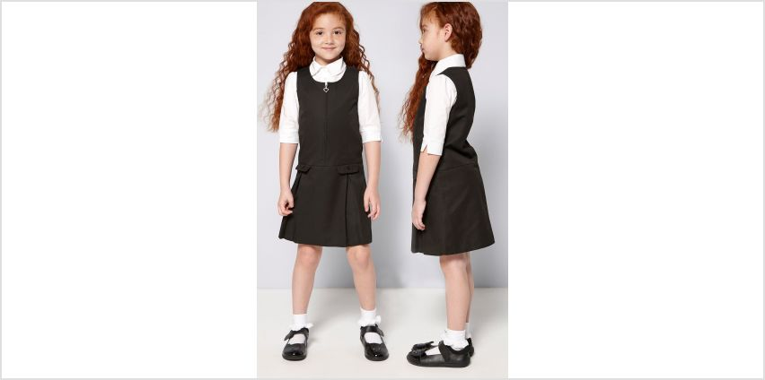 Girls Pack of 2 Black Pinafores from Studio