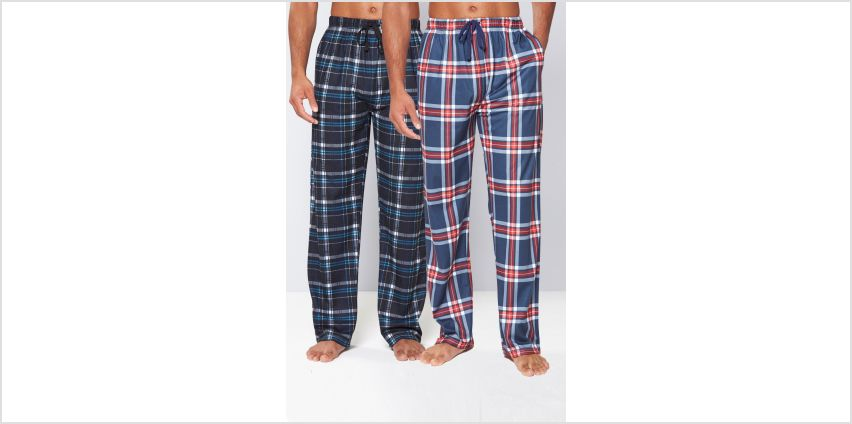 Pack of 2 Soft Touch Check Lounge Pants from Studio