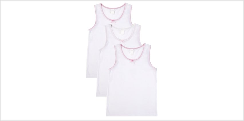 Girls Pack of 3 Vests from Studio