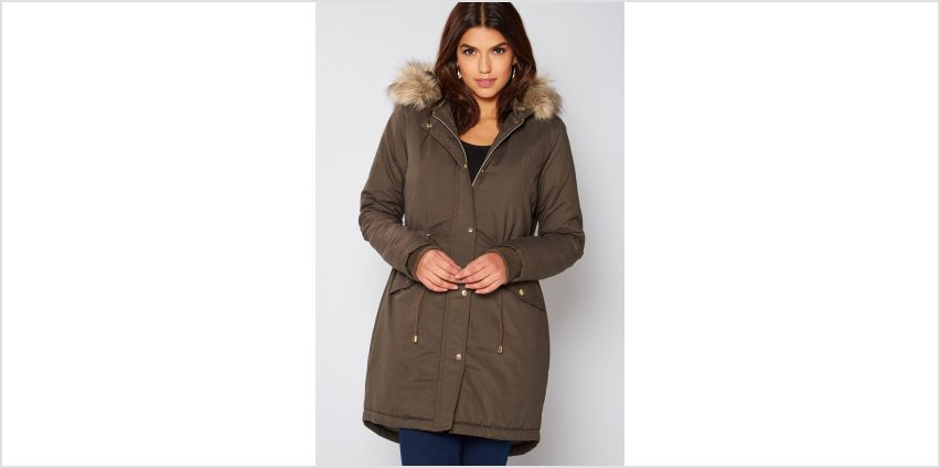 Parka with Faux Fur Lined Hood from Studio