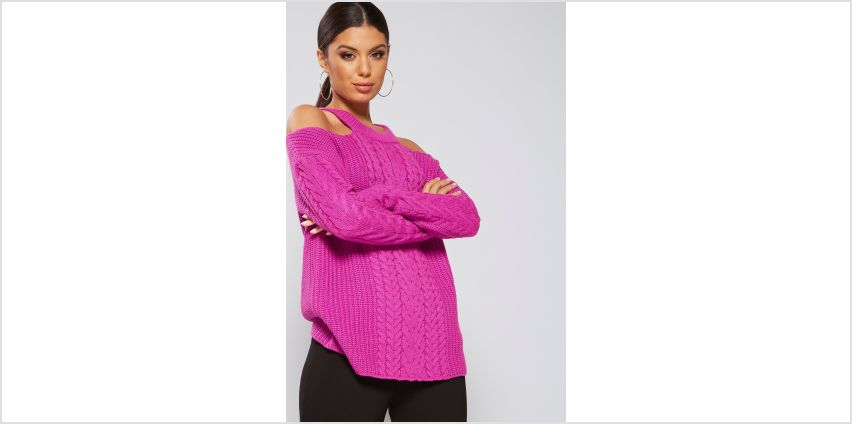 Cold Shoulder Cable Front Jumper from Studio