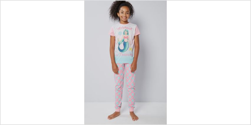 Girls Emoji Mermaid Pyjamas from Studio