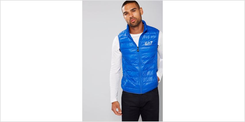 EA7 Blue Down Gilet from Studio