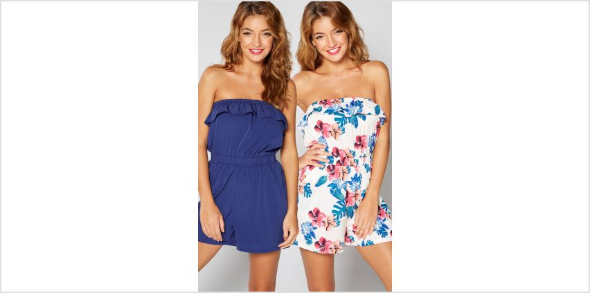 Pack of 2 Hawaii Bandeau Frill Playsuits from Studio