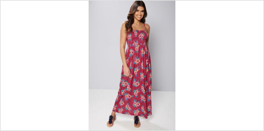 Pink Floral Bandeau Maxi Dress from Studio