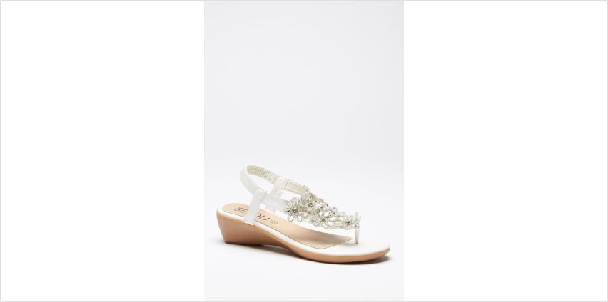 Toe Post Bling Wedge Sandals from Studio