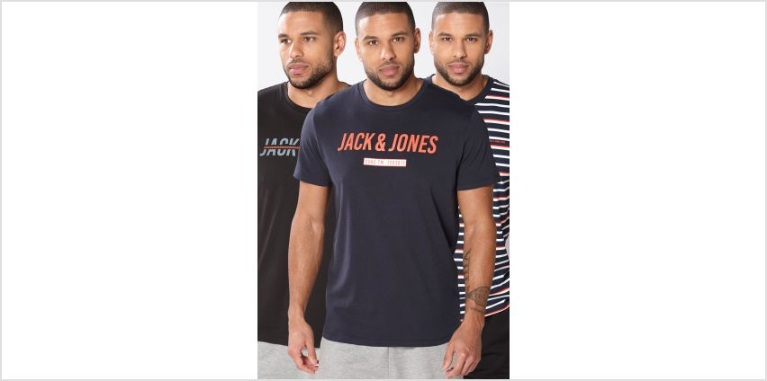 Jack and Jones Pack of 3 Core T-Shirts from Studio
