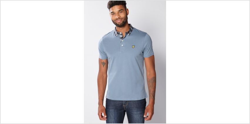 Lyle and Scott Mist Blue Polo from Studio