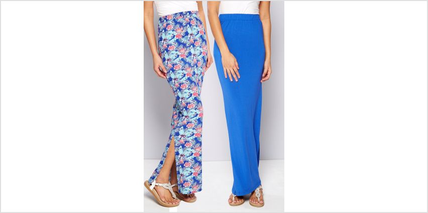 Pack of 2 Side Split Maxi Skirts from Studio