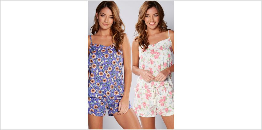 Pack of 2 Printed Floral Camisole PJ Sets from Studio