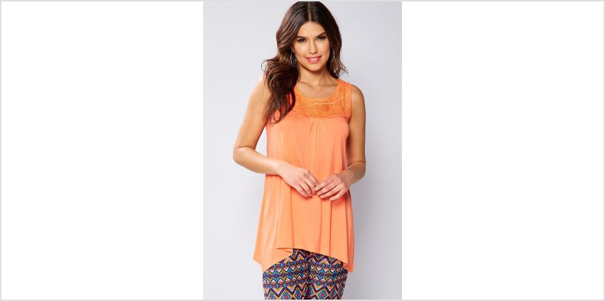 Lace Hanky Hem Vest Top from Studio
