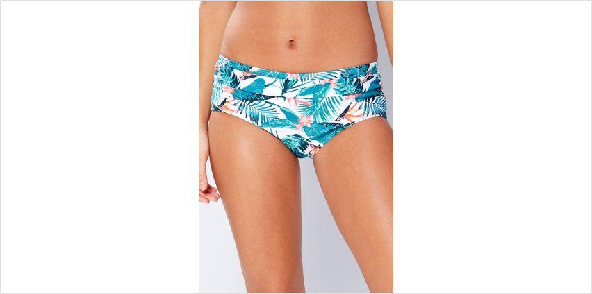 Wild Blossom Mid Waist Bikini Bottom from Studio