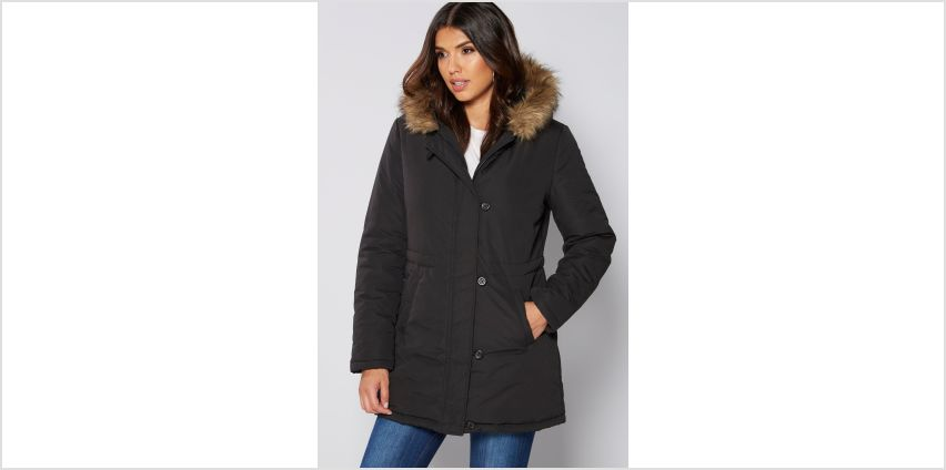 Parka with Faux Fur Trim Hood from Studio