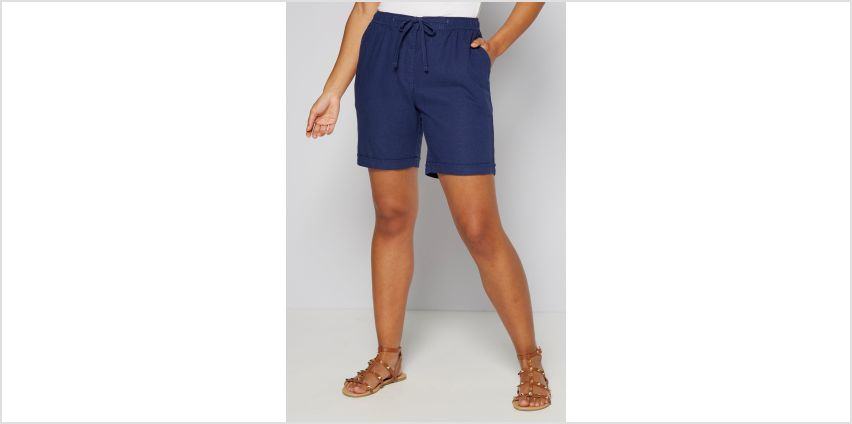 Linen Rib Waist Knee Length Short from Studio