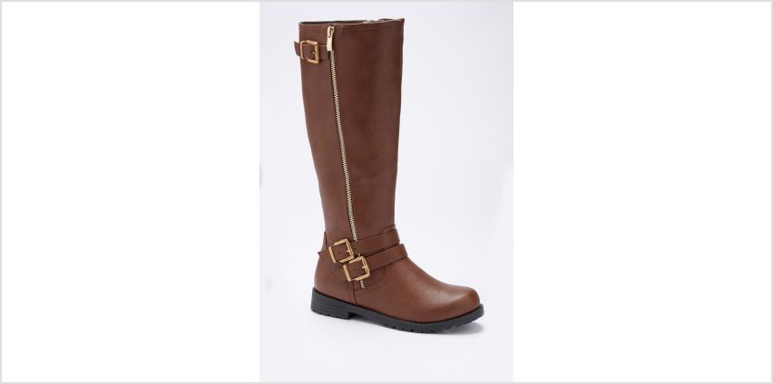 Zip and Buckle Tall Boots from Studio