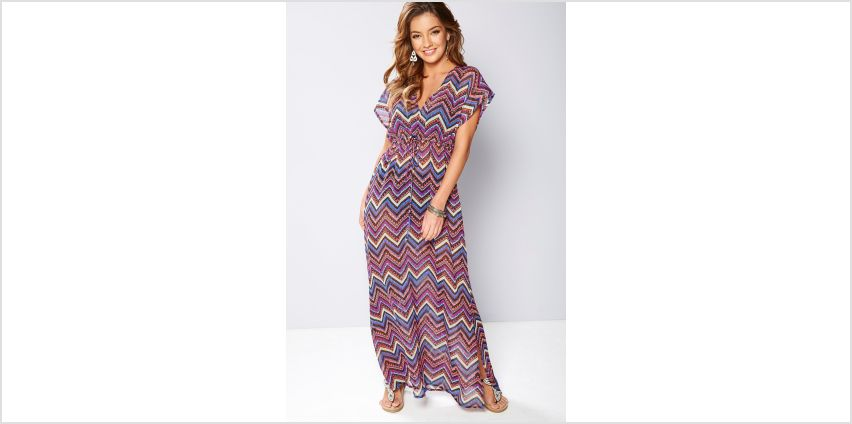 Beach Cover Up Printed Maxi Dress from Studio