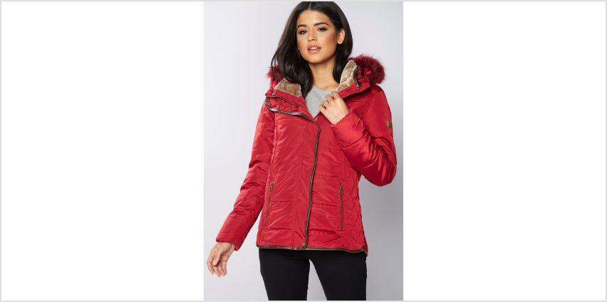 Regatta Winika Faux Fur Trim Hooded Coat from Studio