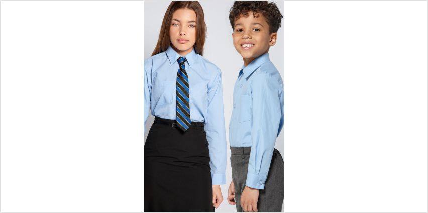 Unisex Pack of 2 Long Sleeve School Shirts from Studio