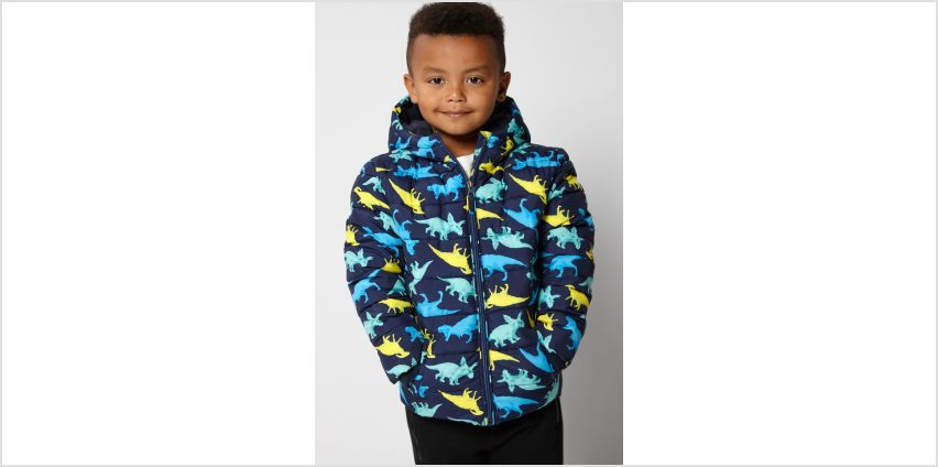 Young Boys Rory Dino Print Coat from Studio