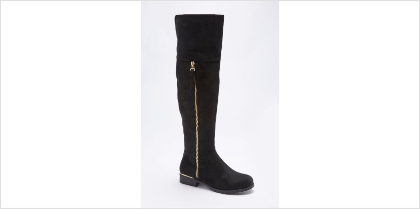 Core Over the Knee Flat Boots with Zip from Studio