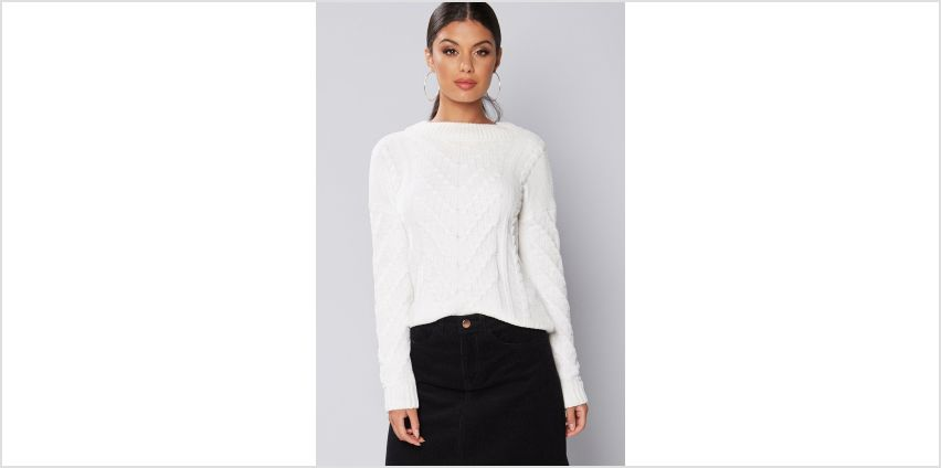 Cable Knit Chenille Boxy Jumper from Studio