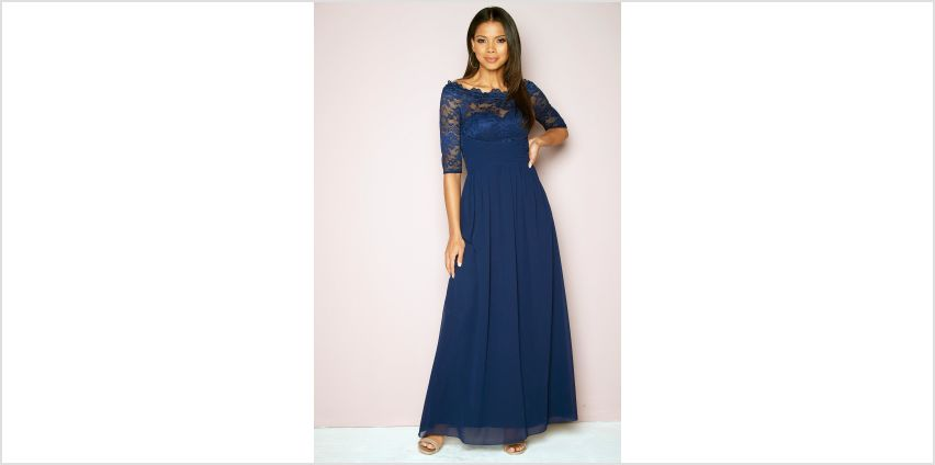 Little Mistress Lace Bardot Maxi Dress from Studio