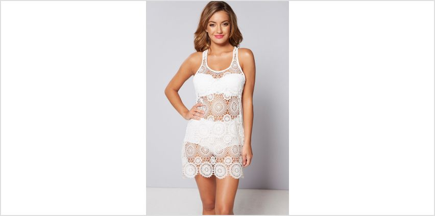 Crochet Lace Beach Cover Up Dress from Studio